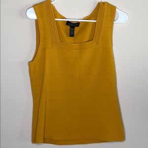 Cable and Gauge yellow formal tank top size M